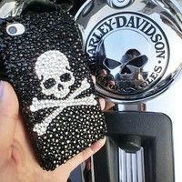 Fashion Skull Rhinestone Handmade Case For Iphone 4/4s