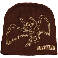 Led Zeppelin Men's Archangel Beanie Brown