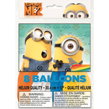 Despicable Me 2 Party Balloons [8 Per Pack]