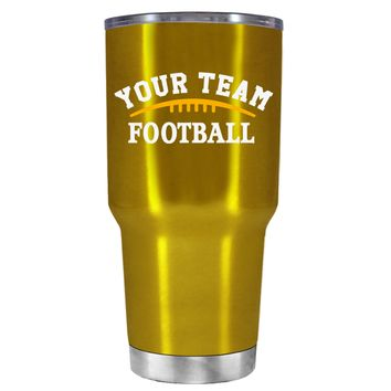 TREK Custom Football Team on Translucent Gold 30 oz Tumbler Cup