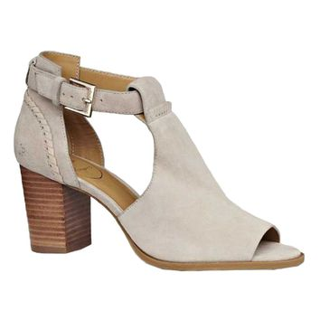 Cameron Suede Open Toe Bootie in Dove Grey by Jack Rogers - FINAL SALE