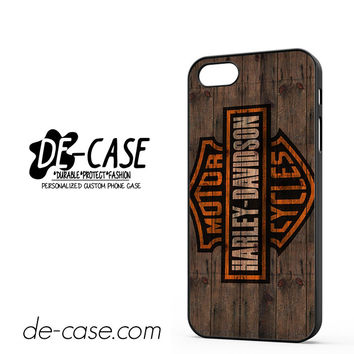 Harley Davidson Motor Cycles Wood Logo DEAL-5047 Apple Phonecase Cover For Iphone 5 / Iphone 5S