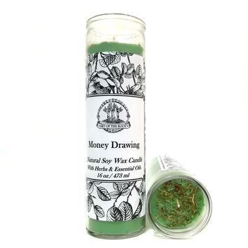 Money Drawing 7 Day SOY Prayer Candle (Fixed) for Prosperity, Wealth, Success & Cash