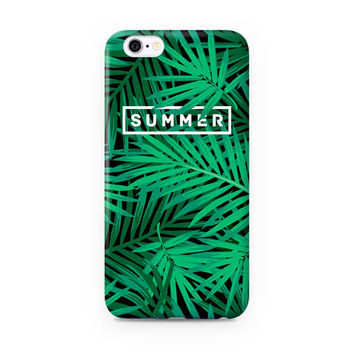 Cute Green Palm Fronds Case for iPhone