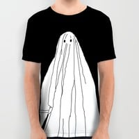 Ghosts 1 / Black All Over Print Shirt by Beyond Infinite