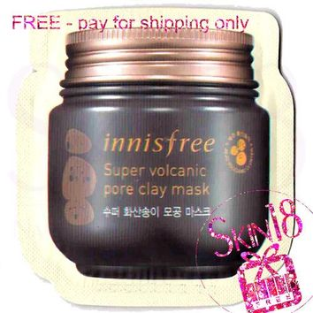 Freebies - Innisfree Super Volcanic Pore Clay mask (Wash Off) Sample Size  *12/18