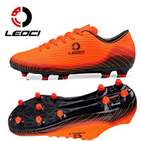 LEOCI Men Football Shoes FG HG AG Soles Soccer Cleats Teenagers Boys Outdoor