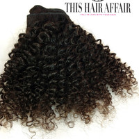 "DOUBLE SET Clip in Extensions - 12"" - 24"" Afro Kinky Curly Virgin Brazilian Human Hair -100g - Natural Hair - Wet and Wavy"