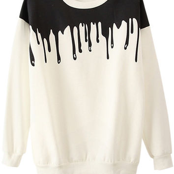 Color Block Long Sleeve Sweatshirt