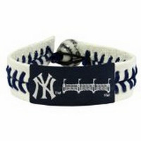 MLB New York Yankees NY Stadium Genuine Baseball Bracelet