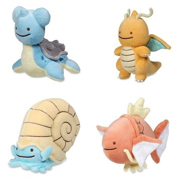 Anime Keychain Pocket Monsters Key Chain Holder Figure Dragonite Lapras Omanyte Keyring Plush Stuffed Dolls Toy Key RingKawaii Pokemon go  AT_89_9