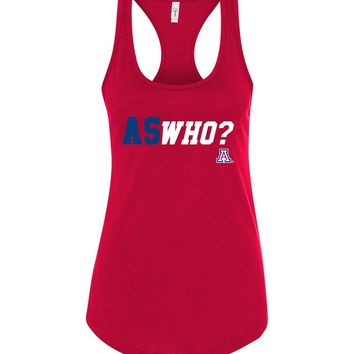 Official NCAA Venley University of Arizona Wildcats U of A Wilber Wildcat BEAR DOWN! ASWho Racerback Tank - uofa2429