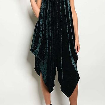 Evergreen Velvet Romper One Size