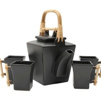 JOYCE CHEN 5-PIECE FLARED TEAPOT SET