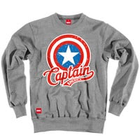 CAPTAIN AMERICA VINTAGE SHIELD SWEAT at ADDICT