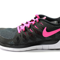 Nike Women's Free 5.0 2014 Black/Pink/White Running Shoes 642199 062
