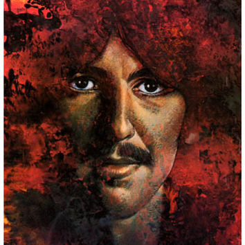 George Harrison Let It Be Psychedelic Poster 11x17