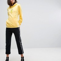 Adolescent Clothing Oversized Hoodie With Bitter Lemon Slogan Embroidery at asos.com