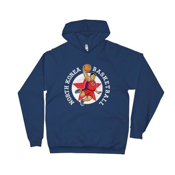 Air Un Rocketman North Korean Basketball Unisex Fleece Hoodie