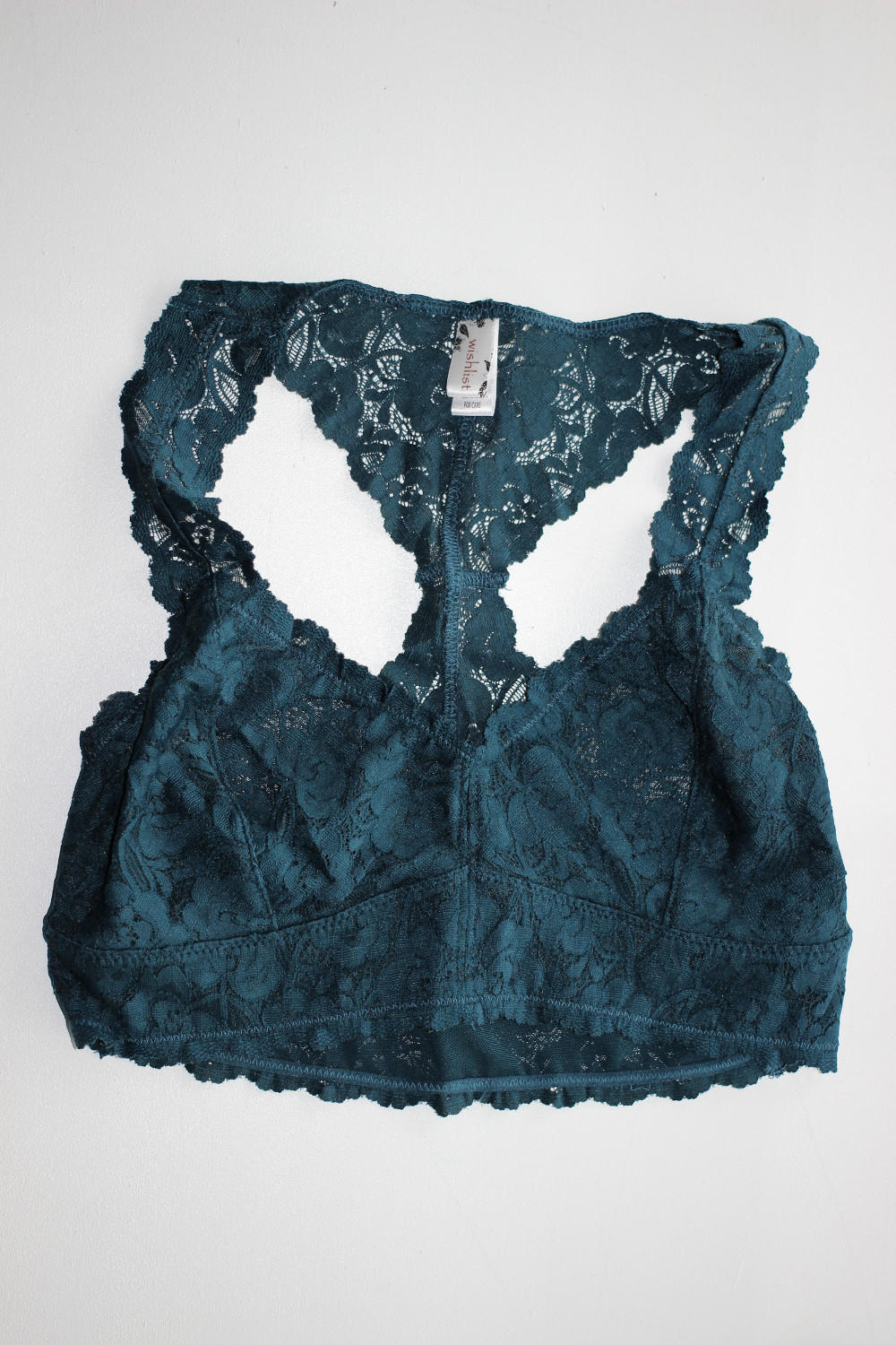 8f26786663 Wishlist-Lace Racerback Bralette-Teal from Simply Dixie Boutique