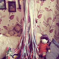 Newborn Crib Canopy Mobile - Gypsy Canopy - Boho Nursery Decor - Bohemian Dreamcatcher Canopy - Mother to Be Gift - Made to Order
