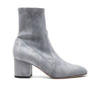 Valentino Suede Booties in Light Stone | FWRD