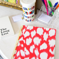 kate spade: large spiral notebook- painterly cheetah