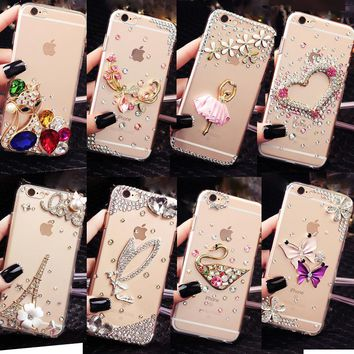 "Glitter Rhinestone Case Cover For iPhone 6 Plus/6S Plus 5.5"", Acrylic mobile phone shell Cover Diamond Phone Cases"