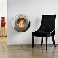 Cocoon Fires Vellum Stainless Steel Fireplace - Style # cfvssvellum, Modern Fireplace - Contemporary Fireplace - Fireplace Accessories - Stainless Steel Fireplace | SwitchModern.com