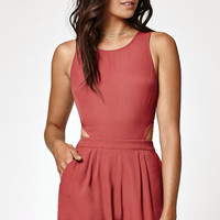Kendall and Kylie Solid Cutout Back Romper at PacSun.com