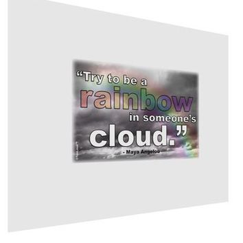 Rainbow in Cloud M Angelou Matte Poster Print Landscape - Choose Size by TooLoud