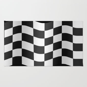 Checkered flag Rug by JT Digital Art