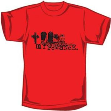 My Chemical Romance Men's  Tombstones T-shirt Red