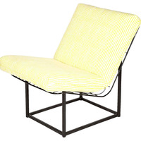 Black Midcentury Metal Lounge Chair