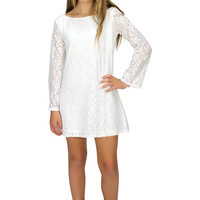 4 Love & Money White Lucy Dress | Mod Angel
