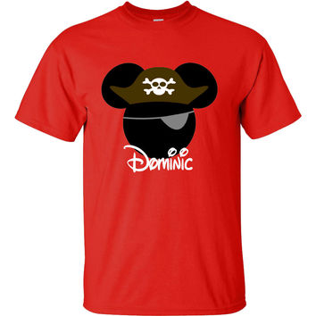 Pirate Mickey Mouse Personalized T-shirt with Name - Birthday shirt, Party shirt, Disney trip