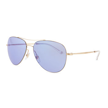 Men's Metal Aviator Sunglasses, Gold/Copper - Gucci - Gold