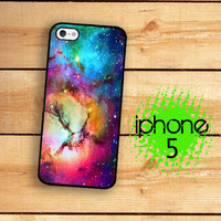 iPhone 5 Case Outer Space Nebula 2  / Hard Case For iPhone 5 Rainbow Stars and Glaxy Print