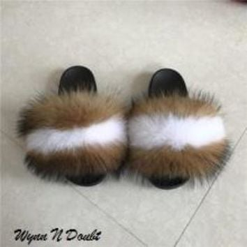 Smores Mink Fur Slippers