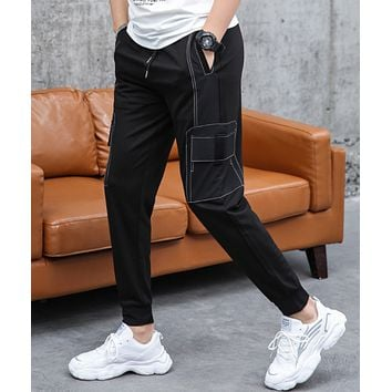 Spring new casual pants men's straight trousers sports pants