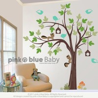 The Birds & Bird Houses on the Tree2 by pinknbluebaby on Etsy