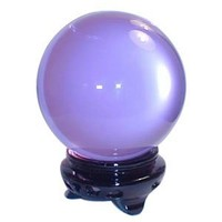 "StealStreet SS-OS-40642 Crystal Ball with Stand Decorative Figurine, 3.2"", Lavender"