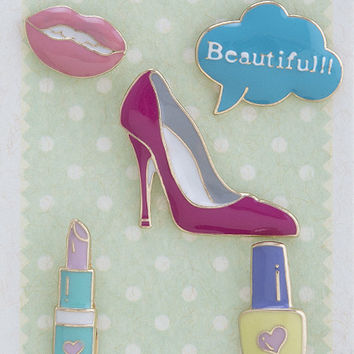 """Beauty Blogger"" Enamel Pin Set"