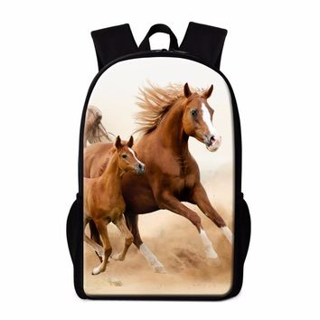 Dispalang Horse Backpack for Girls New Design Brand Bookbag Animal Print Mochilas for Teenager Boys Cute Rucksack for Children