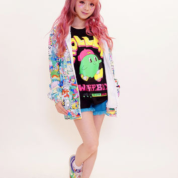 [MADE IN JAPAN] 8words wall paint hoodie - Tokyo kawaii galaxxxy- international online store