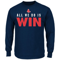 Majestic Boston Red Sox All We Do Is Win Long Sleeve T-Shirt - Navy Blue