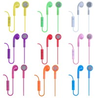 EarlyBirdSavings Lot 9 Earphone Headphones Headset With Mic for iPhone 3G 3GS 4 4S 5 5G Colorful