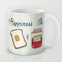 Happiness Is Toast & Jam Mug by Heather Dutton | Society6