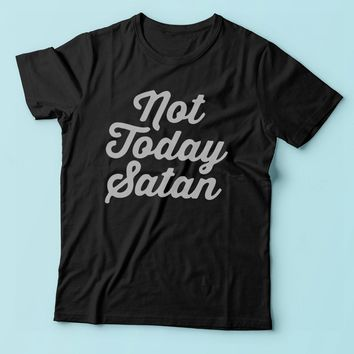 Not Today Satan Gym Sport Runner Yoga Funny Thanksgiving Christmas Funny Quotes Men'S T Shirt