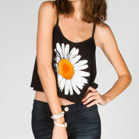 Full Tilt Daisy Womens Swing Tank Black  In Sizes